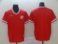 Mens Mlb Cincinnati Reds Blank Red Cooperstown Collection Legend V Neck Cool Base Nike Jersey