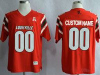 Mens Ncaa Nfl Louisville Cardinals Custom Made Red Jersey