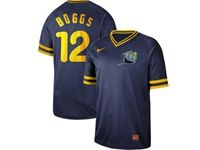 Mens Mlb Tampa Bay Rays #12 Boggs Blue Cooperstown Collection Legend V Neck Cool Base Nike Jersey