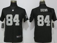 Women Nfl Las Vegas Raiders #84 Antonio Brown Black Vapor Untouchable Elite Player Jersey