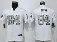 Women Nfl Las Vegas Raiders #84 Antonio Brown White Color Rush Elite Player Jersey
