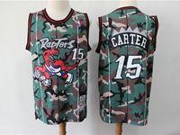 Mens Nba Toronto Raptors #15 Vince Carter Camo Mitchell&ness 1998-99 Hardwood Classics Swingman Jersey