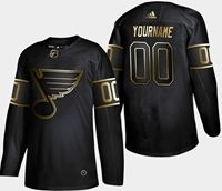 Mens Adidas Nhl St.louis Blues 2019 Champion Black Gold Custom Made Jersey