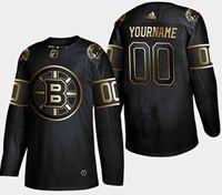 Mens Adidas Nhl Boston Bruins 2019 Champion Black Golden Custom Made Jersey