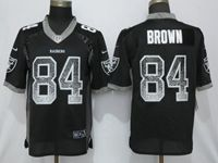 Mens Nfl Las Vegas Raiders #84 Antonio Brown Black Vapor Untouchable Drift Fashion Elite Jersey