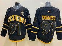 Mens Nhl Toronto Maple Leafs Leafs #91 John Tavares Toronto Adidas Black Jersey