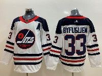 Mens Adidas Nhl Winnipeg Jets #33 Dustin Byfuglien White Alternate Jersey