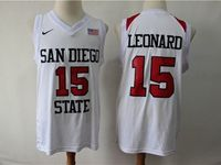 Mens Ncaa Nba San Diego State #15 Leonard White With The Flag Jersey