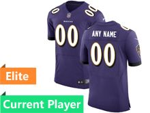 Mens Baltimore Ravens Purple Elite Current Player Jersey