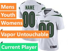2019 Mens Women Youth Nfl New York Jets White Current Player Nike Vapor Untouchable Limited Jersey
