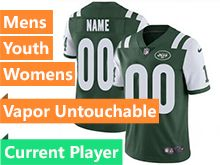 Mens Women Youth Nfl New York Jets Green Vapor Untouchable Limited Current Player Jersey