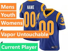 Mens Women Youth Nfl Los Angeles Rams Blue 2019 Super Bowl Liii Bound Vapor Untouchable Limited Current Player Jersey