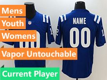 Mens Women Youth Nfl Indianapolis Colts Blue Vapor Untouchable Limited Current Player Jersey
