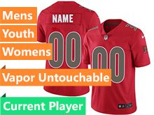 Mens Women Youth Nfl Tampa Bay Buccaneers Red Current Player Vapor Untouchable Color Rush Limited Jersey