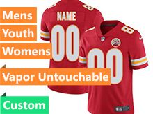 Mens Women Youth Baby Nfl Kansas City Chiefs Custom Made Red Vapor Untouchable Limited Jersey