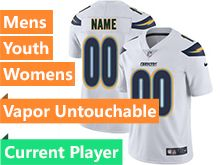 Mens Women Youth Nfl Los Angeles Chargers White Vapor Untouchable Limited Current Player Jersey