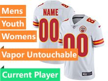 Mens Women Youth Nfl Kansas City Chiefs White Vapor Untouchable Limited Current Player Jersey