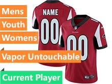 Mens Women Youth Nfl Atlanta Falcons Red Vapor Untouchable Limited Current Player Jersey