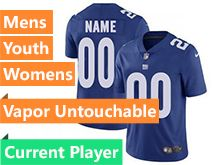 Mens Women Youth Nfl New York Giants Blue Vapor Untouchable Limited Current Player Jersey