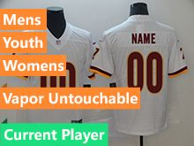 Mens Women Youth Nfl Washington Redskins White Vapor Untouchable Limited Current Player Jersey