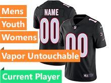 Mens Women Youth Nfl Atlanta Falcons Black Vapor Untouchable Limited Current Player Jersey