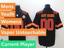Mens Women Youth Nfl Kansas City Chiefs Black Current Player Vapor Untouchable Limited Jersey