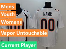 Mens Women Youth Nfl Denver Broncos White Current Player Vapor Untouchable Limited Jersey