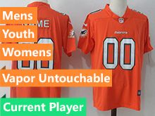 Mens Women Youth Nfl Miami Dolphins Current Player Orange Vapor Untouchable Limited Jersey