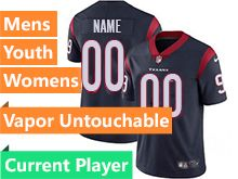 Mens Women Youth Nfl Houston Texans Blue Current Player Vapor Untouchable Limited Jersey