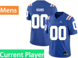 Mens Ncaa Nfl Florida Gators Current Player Royal Blue Jordan Brand Throwback Alternate Game Jersey
