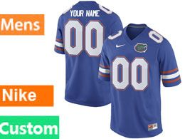 Mens Ncaa Nfl Florida Gators Custom Made Royal Blue Nike Game Jersey