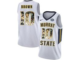 Mens Ncaa Nba Murray State Racers #10 Tevin Brown White Nike Printed Fashion Jersey