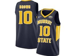 Mens Ncaa Nba Murray State Racers #10 Tevin Brown Blue Nike Jersey
