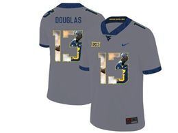 Mens Ncaa West Virginia University #13 Rasul Douglas Gray Printed Fashion Nike Vapor Untouchable Limited Jersey
