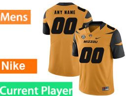 Mens Nacc Nfl Missouri Tigers Current Player Gold Vapor Untouchable Limited Football Jersey