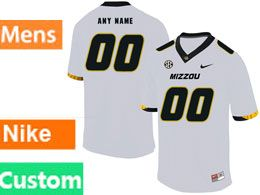 Mens Nacc Nfl Missouri Tigers Cusotm Made White Vapor Untouchable Limited Football Jersey