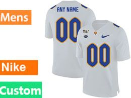 Mens Nacc Nfl Pittsburgh Panthers Custom Made White Vapor Untouchable Limited Football Jersey