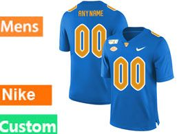 Mens Nacc Nfl Pittsburgh Panthers Custom Made Blue Vapor Untouchable Limited Football Jersey