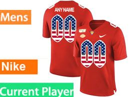 Mens Nacc Nfl Pittsburgh Panthers Current Player Red Printed Usa Flag Nike Vapor Untouchable Limited Jersey