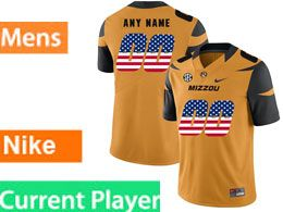 Mens Nacc Nfl Missouri Tigers Current Player Gold Printed Usa Flag Nike Vapor Untouchable Limited Jersey