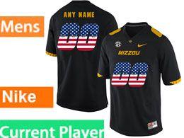 Mens Nacc Nfl Missouri Tigers Current Player Black Printed Usa Flag Nike Vapor Untouchable Limited Jersey