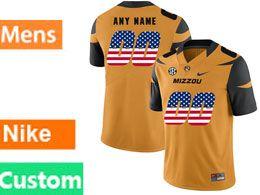 Mens Nacc Nfl Missouri Tigers Custom Made Black Printed Usa Flag Nike Vapor Untouchable Limited Jersey