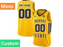 Mens Ncaa Nba Murray State Racers Custom Made Yellow Nike Jersey