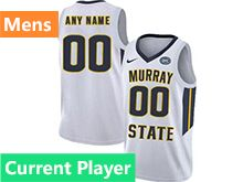 Mens Ncaa Nba Murray State Racers Current Player White Nike Jersey
