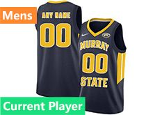 Mens Ncaa Nba Murray State Racers Current Player Blue Nike Jersey