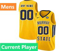 Mens Ncaa Nba Murray State Racers Current Player Yellow Nike Jersey