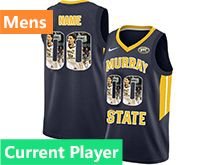 Mens Ncaa Nba Murray State Racers Current Player Blue Nike Printed Fashion Jersey