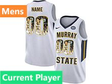 Mens Ncaa Nba Murray State Racers Current Player White Nike Printed Fashion Jersey