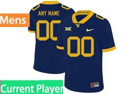 Mens Ncaa West Virginia University Current Player Blue Nike Vapor Untouchable Limited Jersey