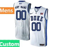 Mens Ncaa Nba Duke Blue Devils Custom Made White Nike Acc Elite Jersey